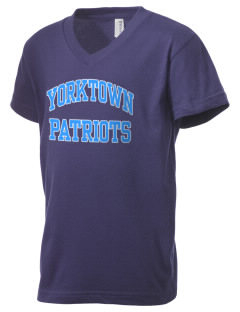 Yorktown High School Patriots Kid's V-Neck Jersey T-Shirt