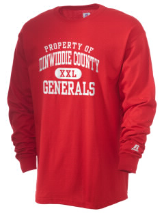 Dinwiddie County High School Generals  Russell Men's Long Sleeve T-Shirt