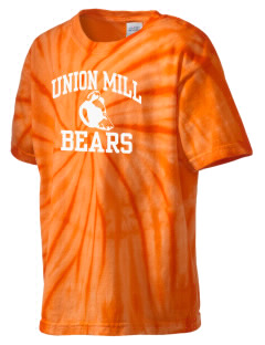 Union Mill Elementary School Bears Kid's Tie-Dye T-Shirt