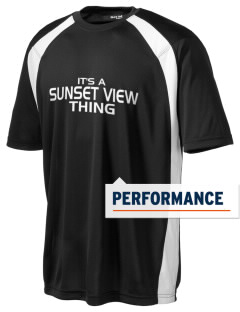 Sunset View Elementary School Mustangs Men's Dry Zone Colorblock T-Shirt