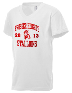 Prosser Heights Elementary School Stallions Kid's V-Neck Jersey T-Shirt