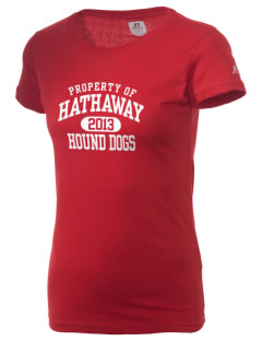 Hathaway Primary School Hound Dogs  Russell Women's Campus T-Shirt