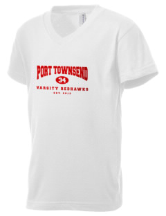 Port Townsend Senior High School Redskins Kid's V-Neck Jersey T-Shirt