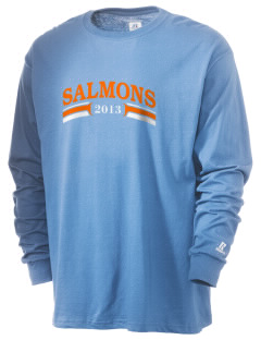 Salmon Creek Elementary School Salmons  Russell Men's Long Sleeve T-Shirt