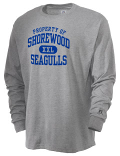 Shorewood Elementary School Seagulls  Russell Men's Long Sleeve T-Shirt