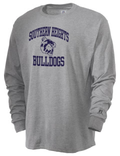 Southern Heights Elementary School Bulldogs  Russell Men's Long Sleeve T-Shirt
