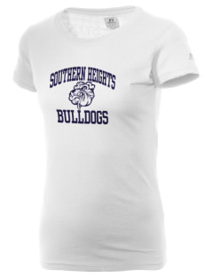 Southern Heights Elementary School Bulldogs  Russell Women's Campus T-Shirt