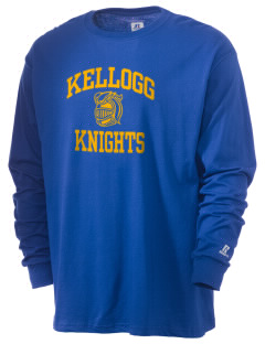 Kellogg Middle School Knights  Russell Men's Long Sleeve T-Shirt