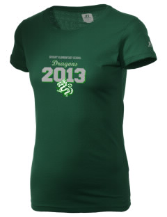 Bryant Elementary School Dragons  Russell Women's Campus T-Shirt