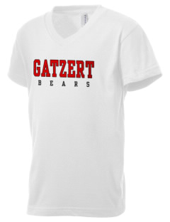 Gatzert Elementary School Bears Kid's V-Neck Jersey T-Shirt