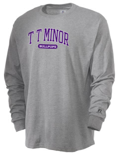 T T Minor Elementary School Bullpups  Russell Men's Long Sleeve T-Shirt