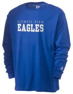 Olympic View Elementary School Eagles  Russell Men's Long Sleeve T-Shirt