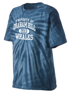 Graham Hill Elementary School Whales Kid's Tie-Dye T-Shirt