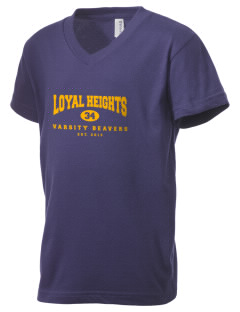 Loyal Heights Elementary School Beavers Kid's V-Neck Jersey T-Shirt