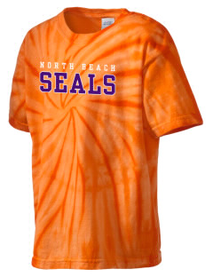 North Beach Elementary School Seals Kid's Tie-Dye T-Shirt