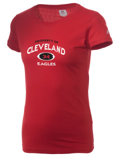 Cleveland High School Eagles  Russell Women's Campus T-Shirt