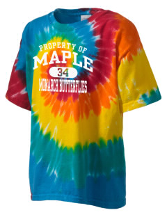 Maple Elementary School Monarch Butterflies Kid's Tie-Dye T-Shirt