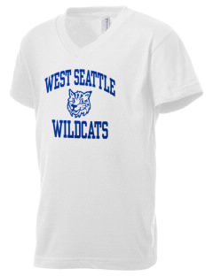 West Seattle High School Wildcats Kid's V-Neck Jersey T-Shirt