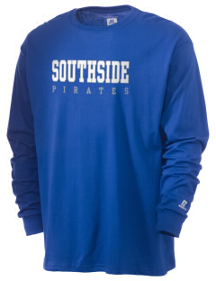 Southside Elementary School Pirates  Russell Men's Long Sleeve T-Shirt