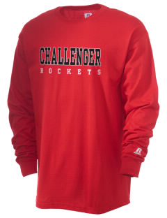 Challenger Middle School Rockets  Russell Men's Long Sleeve T-Shirt