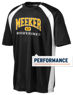 Meeker Middle School Wolverines Men's Dry Zone Colorblock T-Shirt
