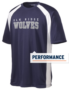 Elk Ridge Elementary School Wolves Men's Dry Zone Colorblock T-Shirt