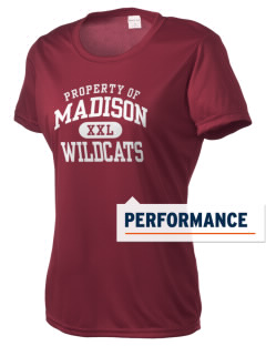 Madison Elementary School Wildcats Women's Competitor Performance T-Shirt