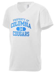 Columbia Elementary School Cougars Kid's V-Neck Jersey T-Shirt