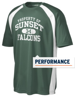 Sunset Elementary School Falcons Men's Dry Zone Colorblock T-Shirt