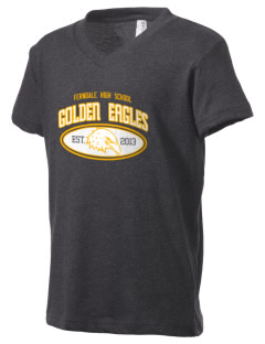 Ferndale High School Golden Eagles Kid's V-Neck Jersey T-Shirt