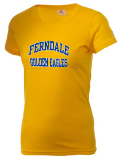 Ferndale High School Golden Eagles  Russell Women's Campus T-Shirt