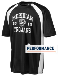 Meridian High School Trojans Men's Dry Zone Colorblock T-Shirt