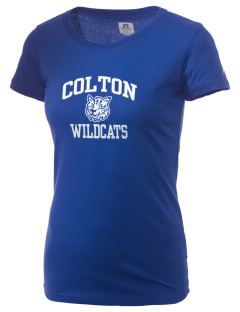 Colton High School Wildcats  Russell Women's Campus T-Shirt