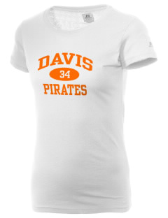 Davis High School Pirates  Russell Women's Campus T-Shirt
