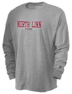 North Linn Elementary School Lynx  Russell Men's Long Sleeve T-Shirt