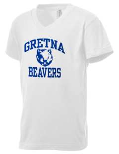 Gretna Elementary School Beavers Kid's V-Neck Jersey T-Shirt