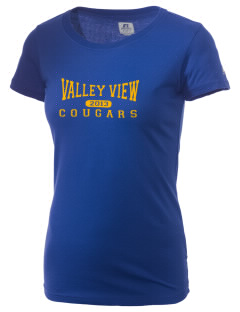 Valley View Middle School Cougars  Russell Women's Campus T-Shirt