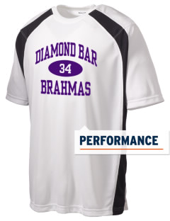 Diamond Bar High School Brahmas Men's Dry Zone Colorblock T-Shirt