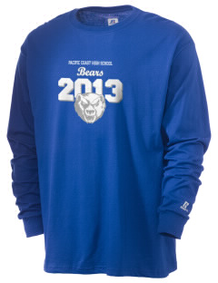Pacific Coast High School Bears  Russell Men's Long Sleeve T-Shirt