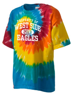 West Side High School Eagles Kid's Tie-Dye T-Shirt