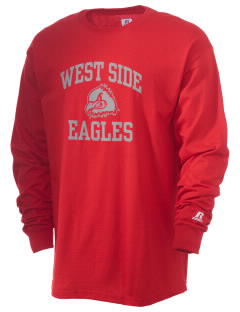 West Side High School Eagles  Russell Men's Long Sleeve T-Shirt