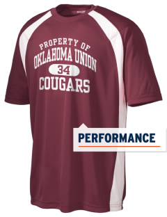 Oklahoma Union School Cougars Men's Dry Zone Colorblock T-Shirt