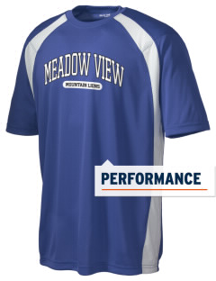 Meadow View School Mountain Lions Men's Dry Zone Colorblock T-Shirt