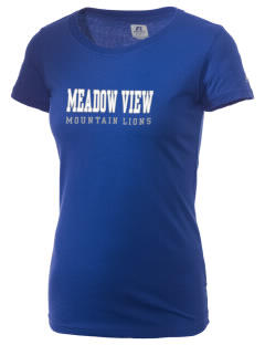 Meadow View School Mountain Lions  Russell Women's Campus T-Shirt