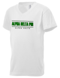 Alpha Delta Phi Kid's V-Neck Jersey T-Shirt