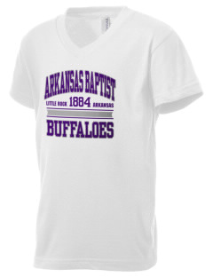 Arkansas Baptist College Buffaloes Kid's V-Neck Jersey T-Shirt
