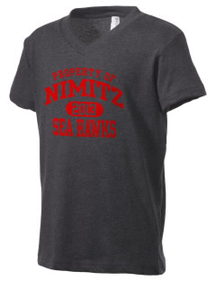 Nimitz Middle School Sea Hawks Kid's V-Neck Jersey T-Shirt