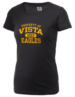 Vista High School Eagles  Russell Women's Campus T-Shirt