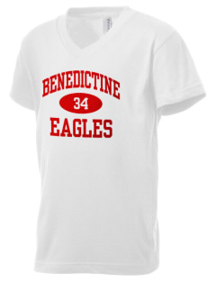Benedictine University Eagles Kid's V-Neck Jersey T-Shirt