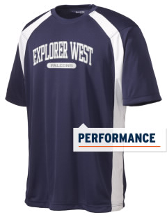 Explorer West Middle School Falcons Men's Dry Zone Colorblock T-Shirt
